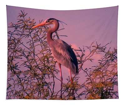 Great Blue Heron - Artistic 6 Tapestry