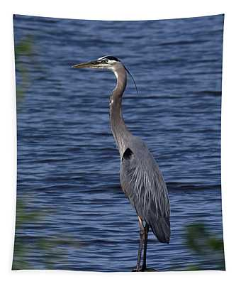 Great Blue Heron Dmsb0001 Tapestry