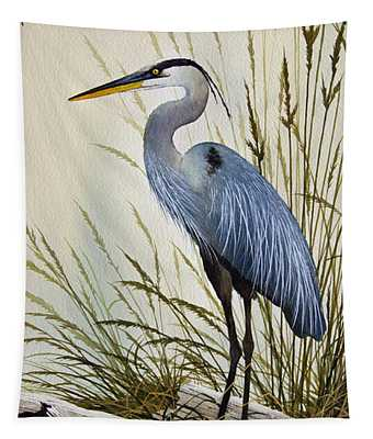 Great Blue Heron Shore Tapestry