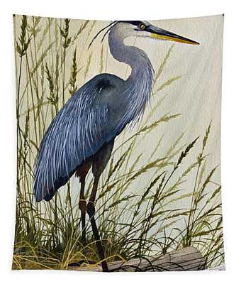 Great Blue Heron Splendor Tapestry