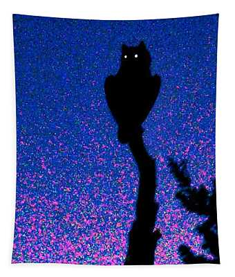 Great Horned Owl In The Desert Tapestry