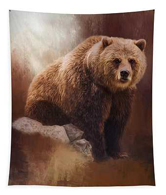 Great Strength - Grizzly Bear Art Tapestry