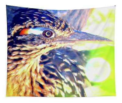 Greater Roadrunner Portrait 2 Tapestry