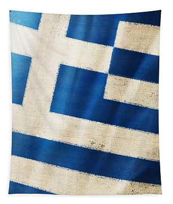 Greece Flag Tapestry