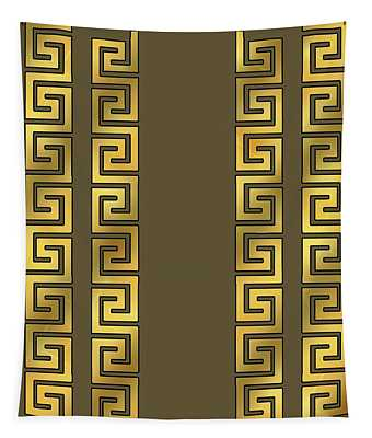 Greek Gold Pattern - Chuck Staley Tapestry
