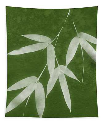 Green Bamboo 1-art By Linda Woods Tapestry