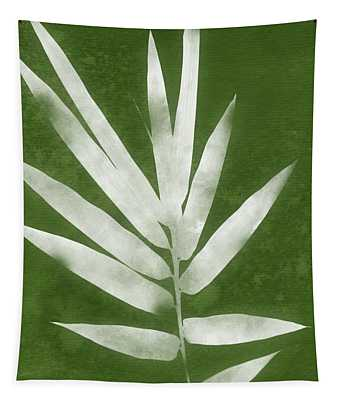Green Bamboo 2- Art By Linda Woods Tapestry
