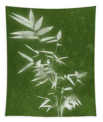 Green Bamboo 3- Art By Linda Woods Tapestry