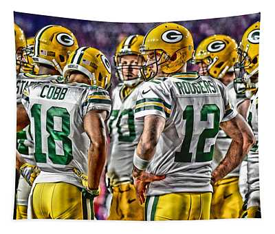 Green Bay Packers Team Art 2 Tapestry