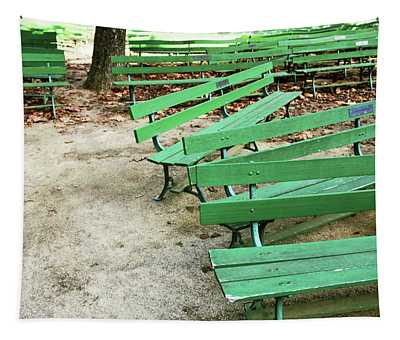 Bench Mixed Media Wall Tapestries
