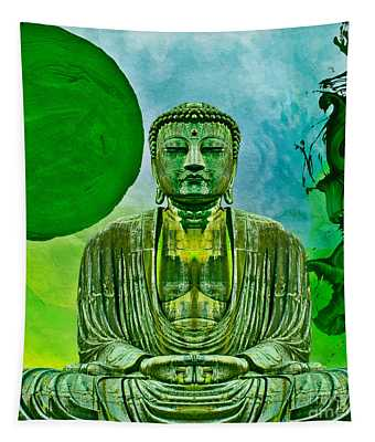 Green Buddha Tapestry