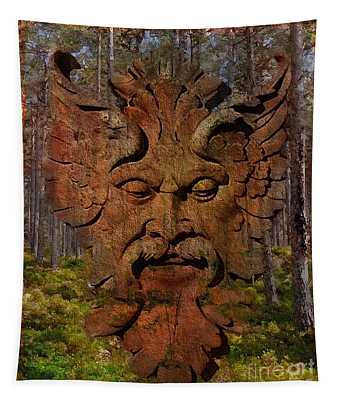 Green Man Of The Forest 2016 Tapestry