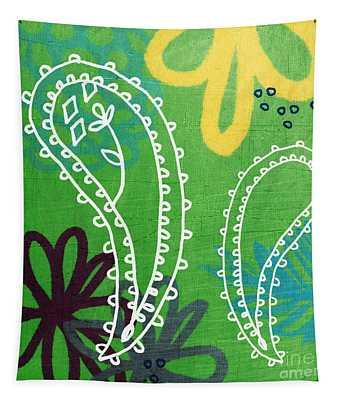 Green Paisley Garden Tapestry