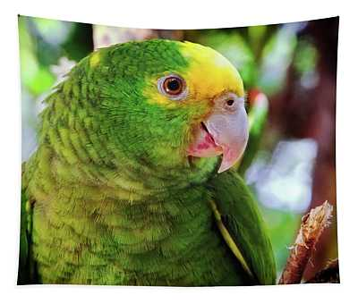 Green Parrot Tapestry