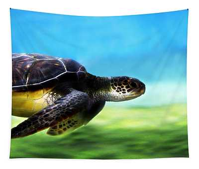 Green Sea Turtle 2 Tapestry