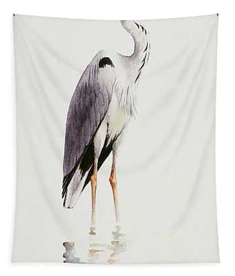 Grey Heron Tapestry