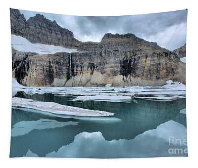 Grinnell Glacier Cirque Reflections Tapestry