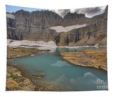 Grinnell Glacier Water Channels Tapestry