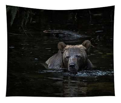 Grizzly Swimmer Tapestry