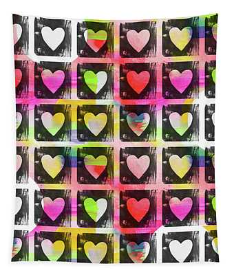 Groovy Hearts- Art By Linda Woods Tapestry