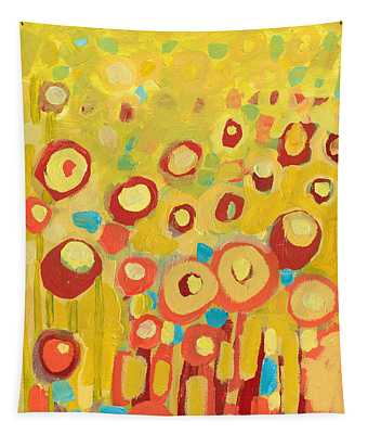 Growing In Yellow No 2 Tapestry