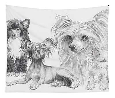 The Chinese Crested And Powderpuff Tapestry