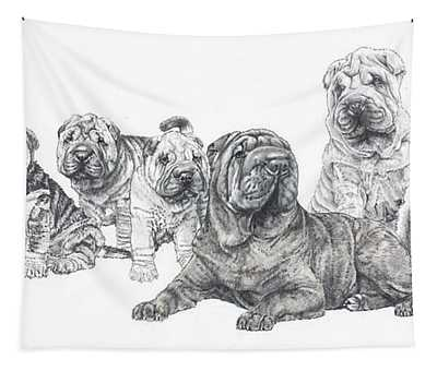 Mister Wrinkles And Family Tapestry