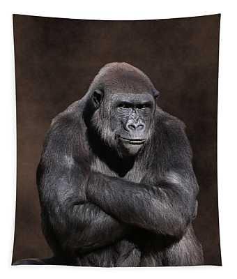 Grumpy Gorilla Tapestry