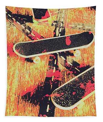 Grunge Skate Art Tapestry
