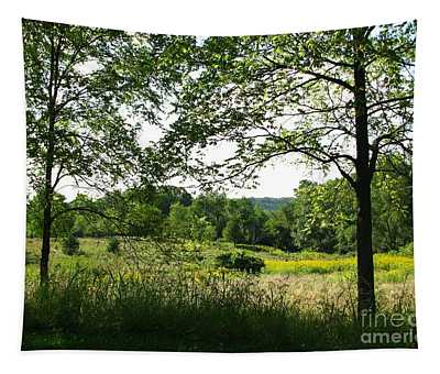 Beyound The Trees Tapestry