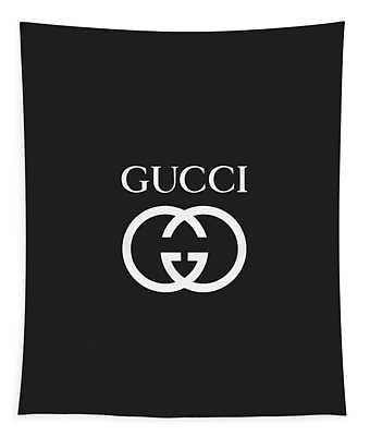Gucci - Black And White - Lifestyle And Fashion Tapestry