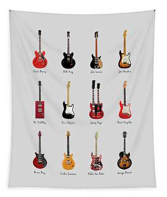 Guitar Icons No1 Tapestry