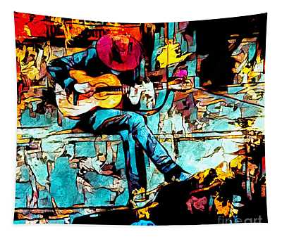 Guitar Man  Tapestry