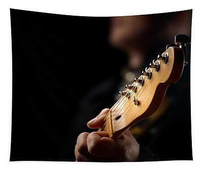 Guitarist Close-up Tapestry
