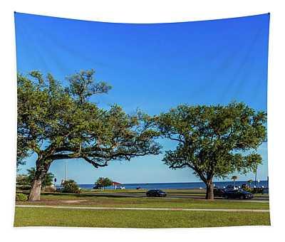 Gulf Coast Lighthouse Seascape Biloxi Ms 3663b Tapestry