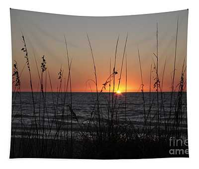 Gulf Sunset In Florida Tapestry