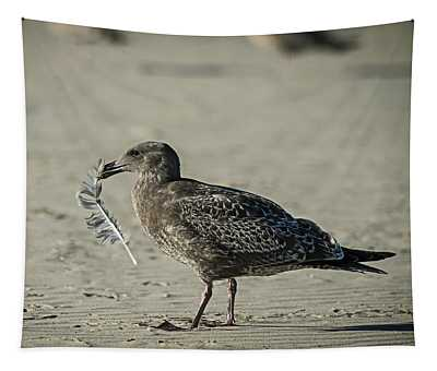 Gull And Feather Tapestry