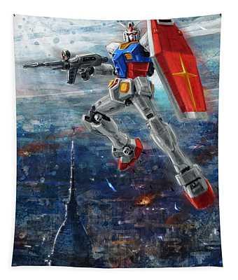 Gundam Panorama Tapestry