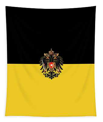 Habsburg Flag With Imperial Coat Of Arms 3 Tapestry