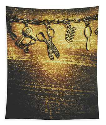 Hairdressing Beauty Salon Background Tapestry
