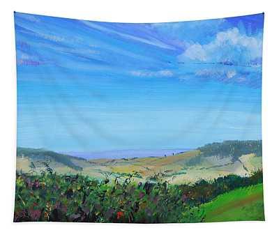 Haldon Hills Sea View Tapestry
