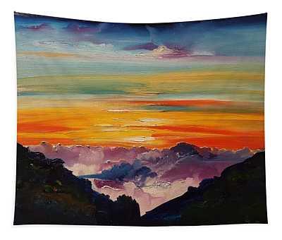 Haleakala Volcano Sunrise In Maui      101 Tapestry