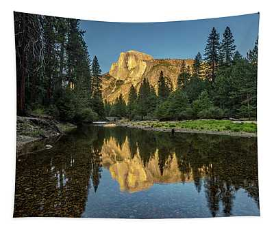 Half Dome From  The Merced Tapestry