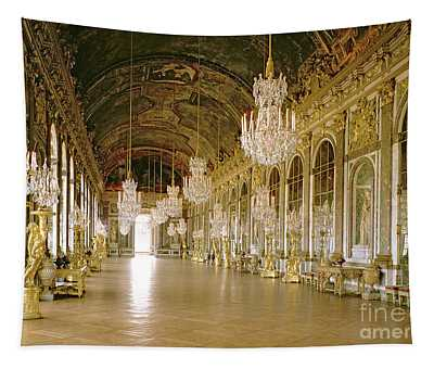 Hall Of Mirrors At The Chateau De Versailles Tapestry