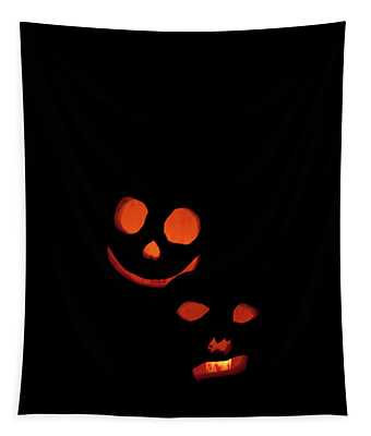 Halloween Black And Orange Tapestry