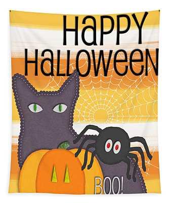 Halloween Friends- Art By Linda Woods Tapestry