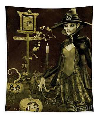 Halloween Graveyard-c Tapestry