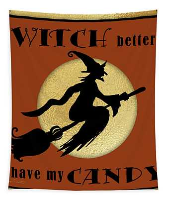 Halloween Sign 7 Tapestry