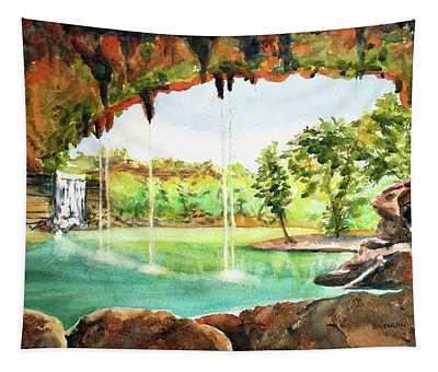 Hamilton Pool Texas Tapestry