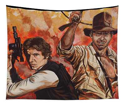 Han Solo And Indiana Jones Tapestry